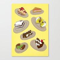 Desserts Canvas Print