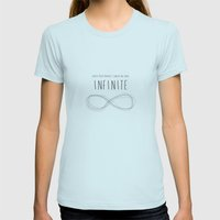 Infinite Womens Fitted Tee Light Blue SMALL