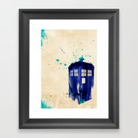 Doctor Who TARDIS Rustic Framed Art Print