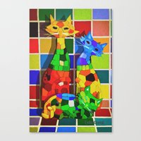 Cat'meleon Canvas Print