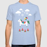The Snowy Day Mens Fitted Tee Tri-Blue SMALL