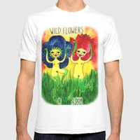 Wild Flowers In Bloom Mens Fitted Tee White SMALL