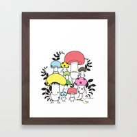 WELCOME TO MUSHROOM LAND… Framed Art Print