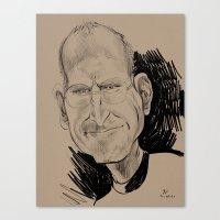Steve Jobs (businessman, inventor) Canvas Print