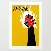 Indiana Jones and the Temple of Doom Minimal Movie Poster Art Print