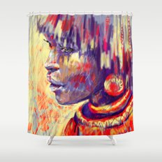 African portrait Shower Curtain