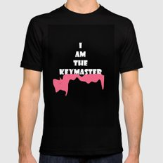 Key Master  Black Mens Fitted Tee SMALL