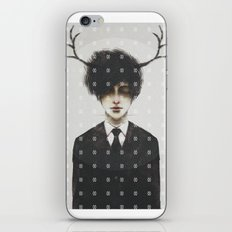 BLACK SUIT ANTLERS iPhone & iPod Skin