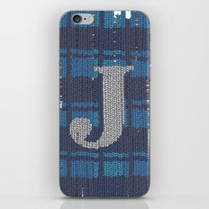 Winter clothes. Letter J. iPhone & iPod Skin