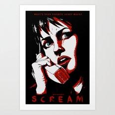 SCREAM - RED (Alternative Movie Poster) Art Print