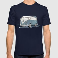 Volkswagen Transporter Mens Fitted Tee Navy SMALL