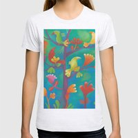 Birds Womens Fitted Tee Ash Grey SMALL