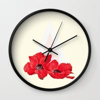 Floral Triangle Wall Clock