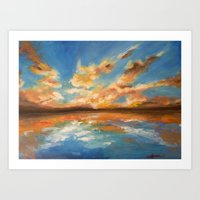 Golden Clouds Art Print