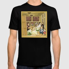 The Maids of Honour by Velázquez (Las Meninas)  SMALL Black Mens Fitted Tee