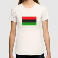 afro american ethnic flag Womens Fitted Tee Natural SMALL