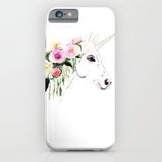 Unicorn, flowers, watercolor iPhone 6 Slim Case