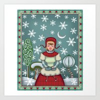 peaceful snow  Art Print