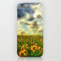 iPhone & iPod Case featuring Classical style sunflowers by Julia Kovtunyak