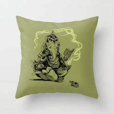 nerdy ganesha Throw Pillow