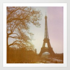 City of Love & The Eiffel Tower Art Print