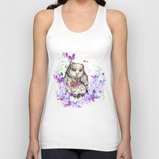 Little Owl Unisex Tank Top