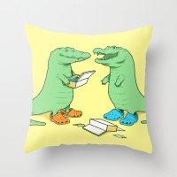 Crocs Throw Pillow