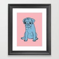 Sad Puppy, 2013. Framed Art Print