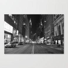 Empty 42nd Street Canvas Print