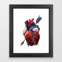 Heart Attack Framed Art Print