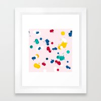 happy confetti Framed Art Print