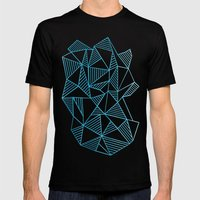 Abstraction Lines Waterc… Mens Fitted Tee Black SMALL
