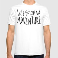 Let's Go on an Adventure Mens Fitted Tee White SMALL