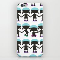 Roller Derby Paper Chain… iPhone & iPod Skin