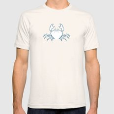 Crab SMALL Natural Mens Fitted Tee