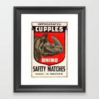 Rhino - Matchbox Framed Art Print