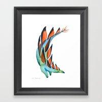 Strutting Stegosaurus Framed Art Print