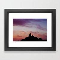 Man Enjoying Sunset II Framed Art Print