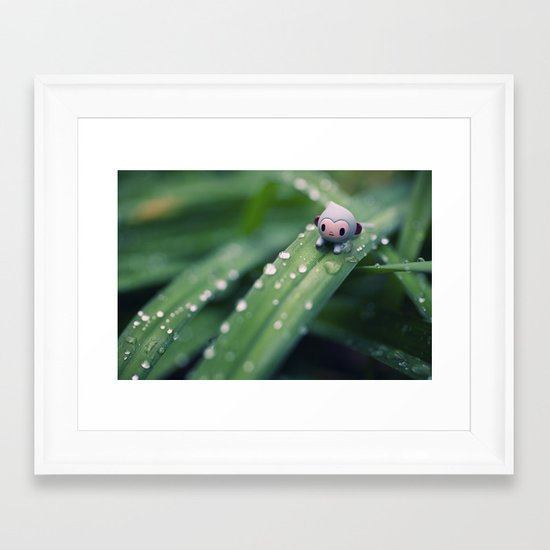 I can slides down Framed Art Print