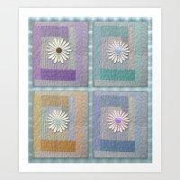 Flower Quilt Art Print