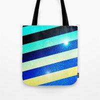 Striped Colorful Glitter Tote Bag