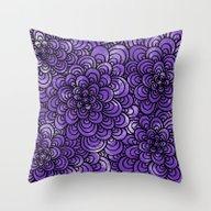 Purple Tangle Design Throw Pillow