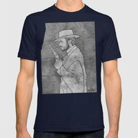 The Man with No Name Mens Fitted Tee Navy SMALL