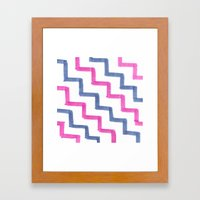 Missoni Stairs Framed Art Print