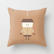 Cold Weather Coffee Throw Pillow