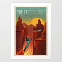 DISCOVER MARS - Valles M… Art Print