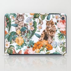 Cat and Floral Pattern III iPad Case
