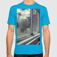 Rainy Day Mens Fitted Tee Teal SMALL