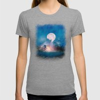 Moon Above, Sun Below Womens Fitted Tee Tri-Grey SMALL
