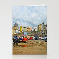 Tenby Harbour . Sunlight. Pembrokeshire. Wales. Stationery Cards